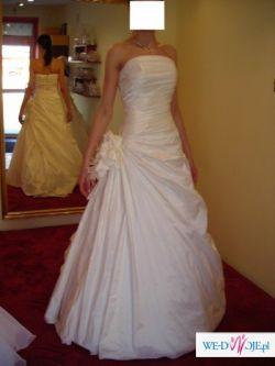 Piękna suknia ślubna ecru Urszula Mateja