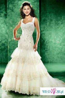 Piękna suknia ślubna Eddy K. 77793 rozmiar 36-38 zkryształkami swarovskiego.