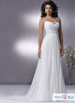 Piękna suknia ślubna empire!!!