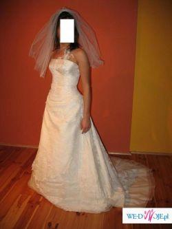 Piękna suknia ślubna firmy CYMBELINE w kolorze ecru