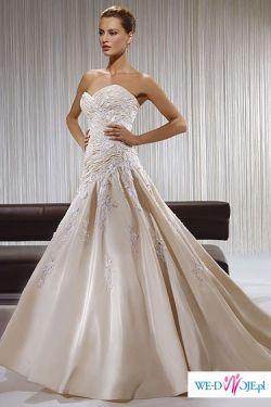 piękna suknia ślubna firmy Demetrios z kolekcji z 2008r