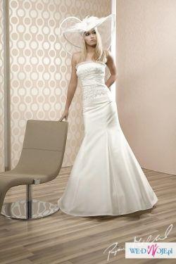 Piękna Suknia Ślubna Firmy Papa Michel + GRATIS halka POLECAM!!