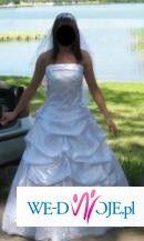 piękna suknia ślubna jak dla prawdziwej księżniczki