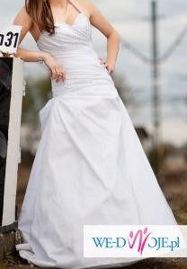 Piękna suknia ślubna + kamizelka ślubna męska gratis !!