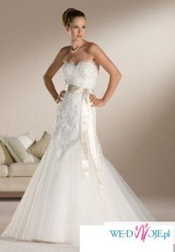 Piękna suknia ślubna koronkowa syrenka rozm 36