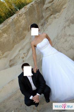 Piękna suknia ślubna - księżniczka!