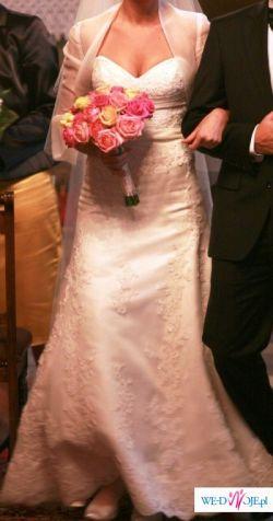 PIĘKNA Suknia ślubna LA SPOSA model FLAMA 2009