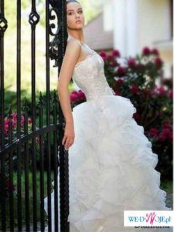 Piękna suknia ślubna Maggio Ramatti Cancan ecru falbany rozmiar 36
