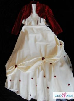 Piękna suknia ślubna Marietta raz urzywana rozmiar38