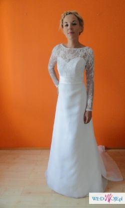Piękna suknia ślubna  marki Margarett -  FLAVIA ! koronka rozm. 36
