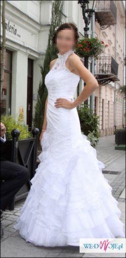 Piękna SUKNIA ŚLUBNA marki Sposabella,biała