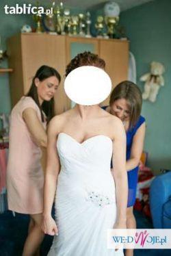 Piękna suknia ślubna Mori Lee 4862 Szczecin stan idealny