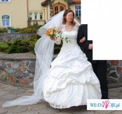 Piękna suknia ślubna po okazyjnej cenie