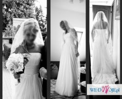 Piękna suknia ślubna PRONOVIAS model MARISA - TANIO!