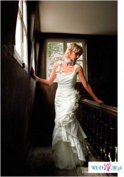 piękna suknia ślubna, renomowanej belgijskiej firmy linea raffaelli, nr.36