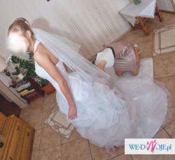 Piękna Suknia Ślubna roz.34/XS Gratis Tren Bolerko Zabrze