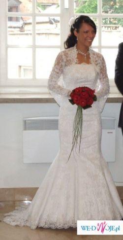 Piękna suknia ślubna roz 38