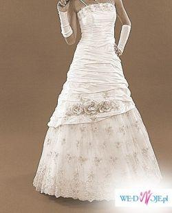 Piękna suknia ślubna roz.46