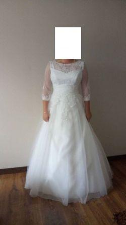 Piękna suknia ślubna rozm 40-42 firmy Agnes