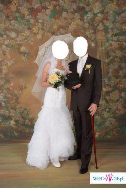 Piękna suknia ślubna. Rozmiar 34/36. Dodatki GRATIS!!!