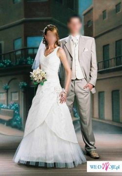 piękna suknia ślubna rozmiar 38 + welon + bolerko