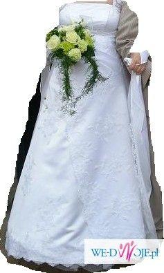 piękna suknia ślubna rozmiar 40-42