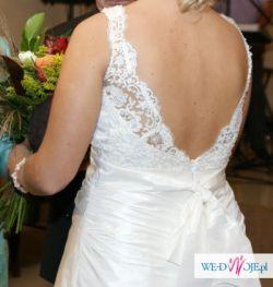 piękna suknia ślubna rozmiar 42