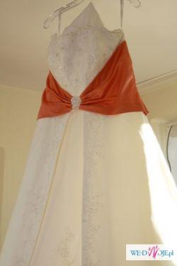 Piękna Suknia Ślubna , rozmiar 44, linia A, wzrost 164 cm
