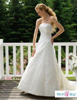 Piękna suknia ślubna Sincerity 3079 kolor ecru