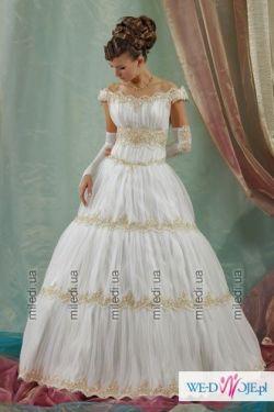 Piekna suknia ślubna Skarlett. NOWA r.38