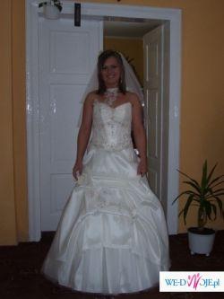 Piękna suknia ślubna, styl hiszpański. Gratis welon+rękawiczki.