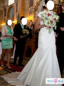 Piękna suknia ślubna sweetheart