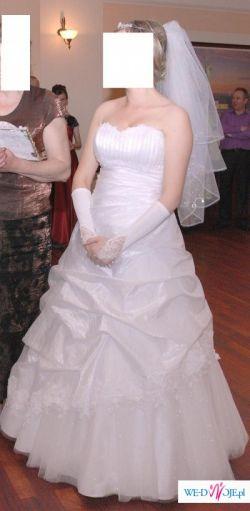 piekna suknia slubna TANIO (idealna dla kobiety w ciazy i nie tylko)