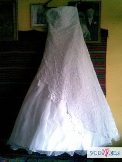 Piękna suknia ślubna w kształcie litery A