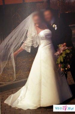 piękna suknia ślubna w roz. 44-46 w cenie wypożyczenia