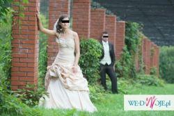Piękna suknia ślubna + woalka