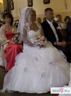 Piekna suknia ślubna + wszystkie dodatki gratis!!! Lublin