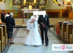 Piękna suknia ślubna z bolerkiem- tanio!
