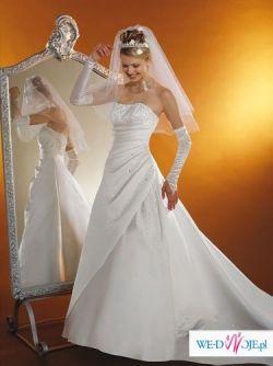 Piękna suknia ślubna z Francji!! r.38