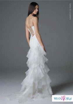 Piękna suknia ślubna z francuskiej kolekcji MARIEES DE PARIES- model FRIDA