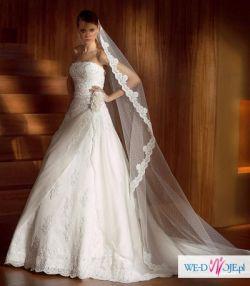 Piękna suknia ślubna z hiszpańskiej kolekcji San Patrick z 2008r. , model Balta.