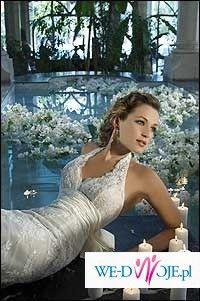 Piękna suknia ślubna z kolekcji DEMETROIS