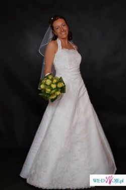 Piękna suknia ślubna z kolekcji Madame Zaręba 2007 model Aziza