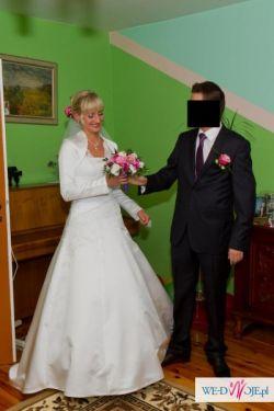 Piękna Suknia Ślubna z Kryształkami Svarowskiego