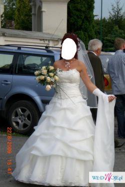 Piękna suknia ślubna za niską cenę !!
