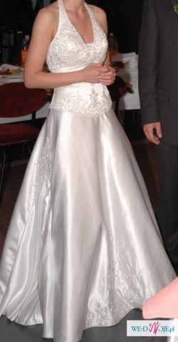 Piękna suknia ślubna ze zdobieniami. Rozm 36. Mary's Bridal