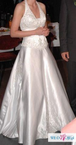 Piękna suknia ślubna ze zdobieniami. Rozm 36    Mary's Bridal