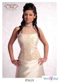 Piękna suknia ślubne ecru LILEA r.40