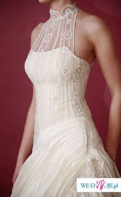 piękna suknia w kolorze ivory