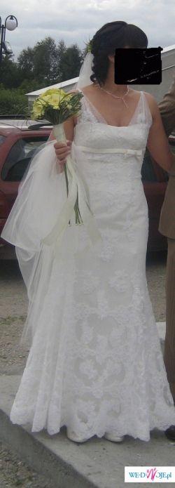 Piekna suknia z najnowszej kolekcji White One model 160! Tanio!